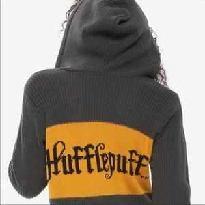 Harry Potter Hufflepuff Hooded Colorblock Sweater
